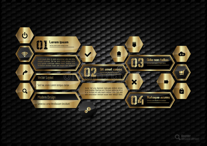 Gouden Lay-out stock illustratie