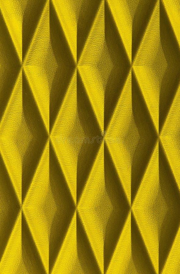 Gouden Leertextuur Bekwaam om als achtergrond te gebruiken stock afbeelding