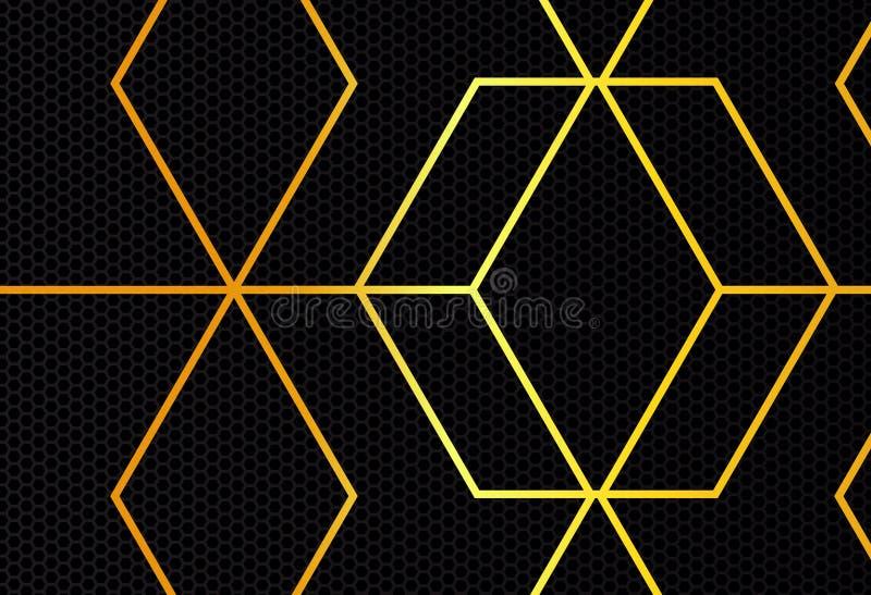 Gouden lijn op donkere achtergrond vector illustratie