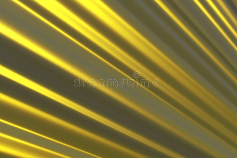 Gouden lijnen royalty-vrije illustratie