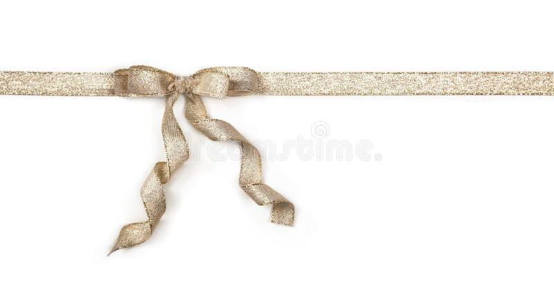 Gouden lint met een boog stock afbeelding