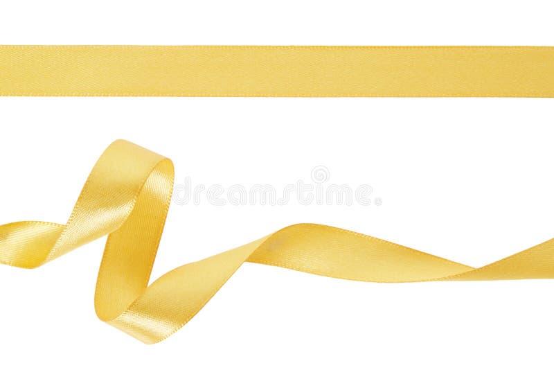 Gouden lintreeks royalty-vrije stock foto