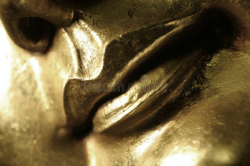 Gouden Lippen royalty-vrije stock foto's