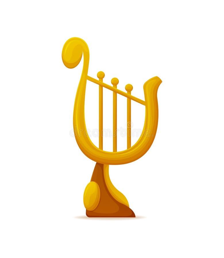 Gouden Liretoekenning, Trofee met Koordenvector stock illustratie