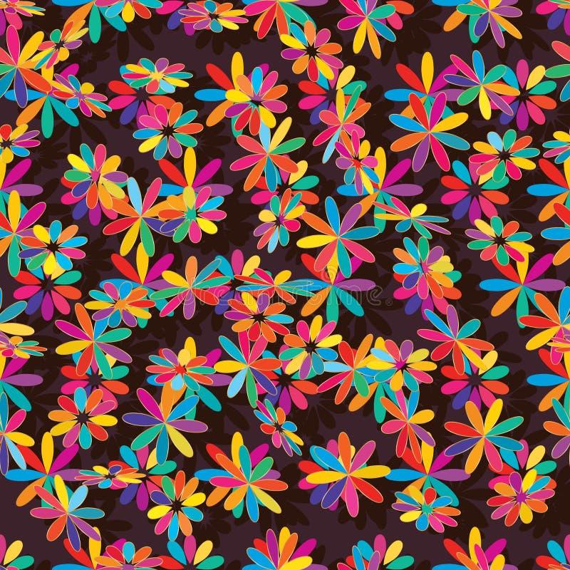 Gouden loayout naadloos patroon van de bloem kleurrijk stijl stock illustratie