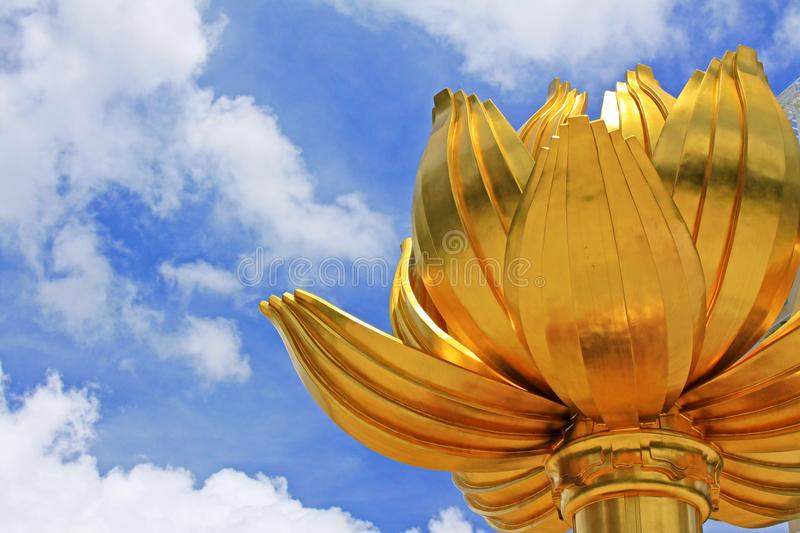 Gouden Lotus Square, Macao, China stock foto