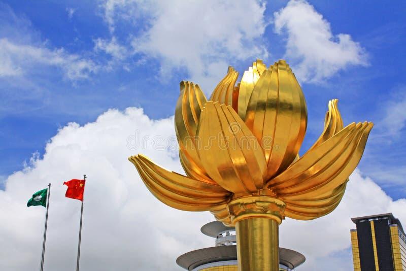 Gouden Lotus Square, Macao, China royalty-vrije stock fotografie