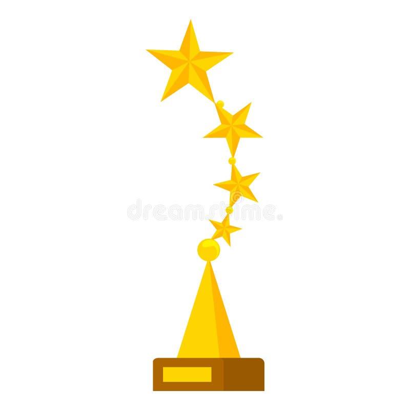 Gouden luxetoekenning voor kampioen of winnaar vector illustratie