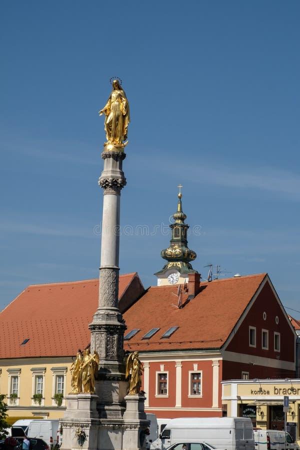 Gouden Madonna van Zagreb stock foto's