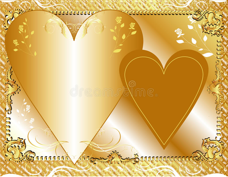 Gouden Malplaatje vector illustratie