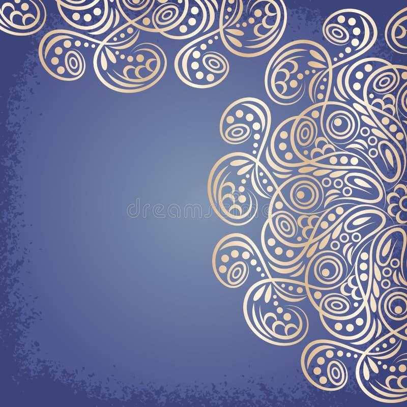 Gouden Mandala, stammen vector illustratie