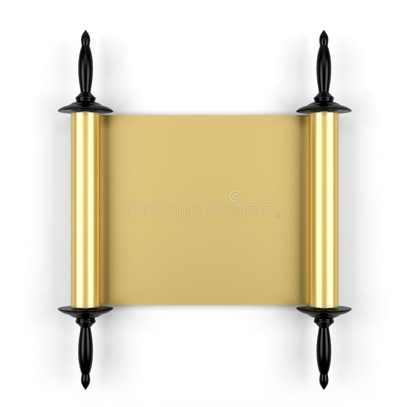 Gouden manuscript stock illustratie