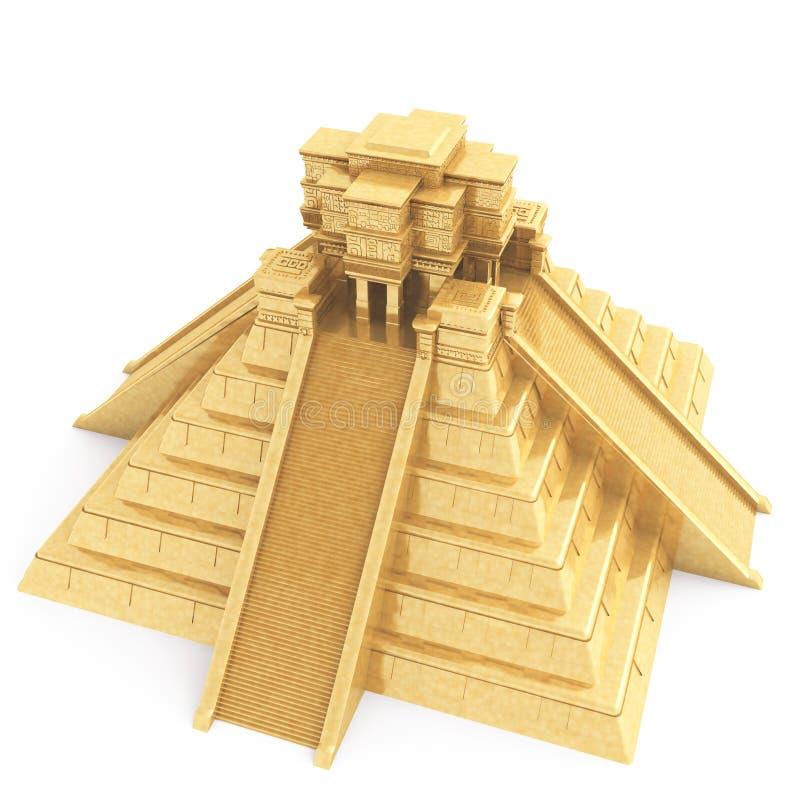 Gouden Mayan Tempel royalty-vrije illustratie