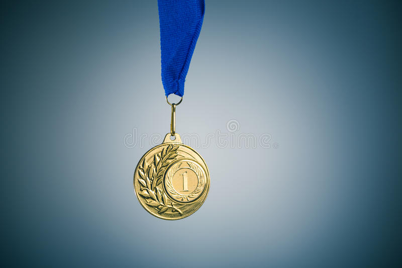 Gouden medaille stock fotografie
