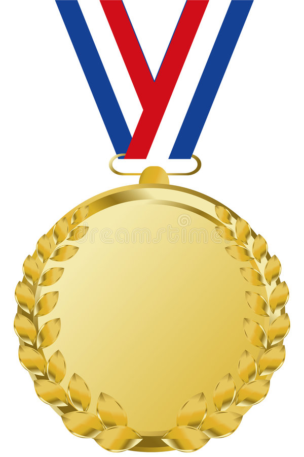Gouden medaille stock illustratie
