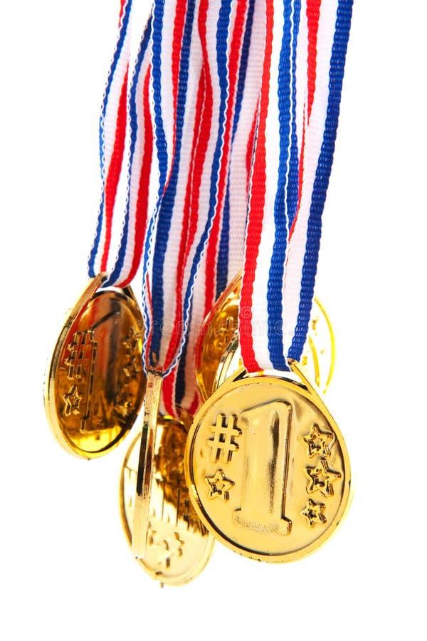 Gouden medailles stock afbeeldingen