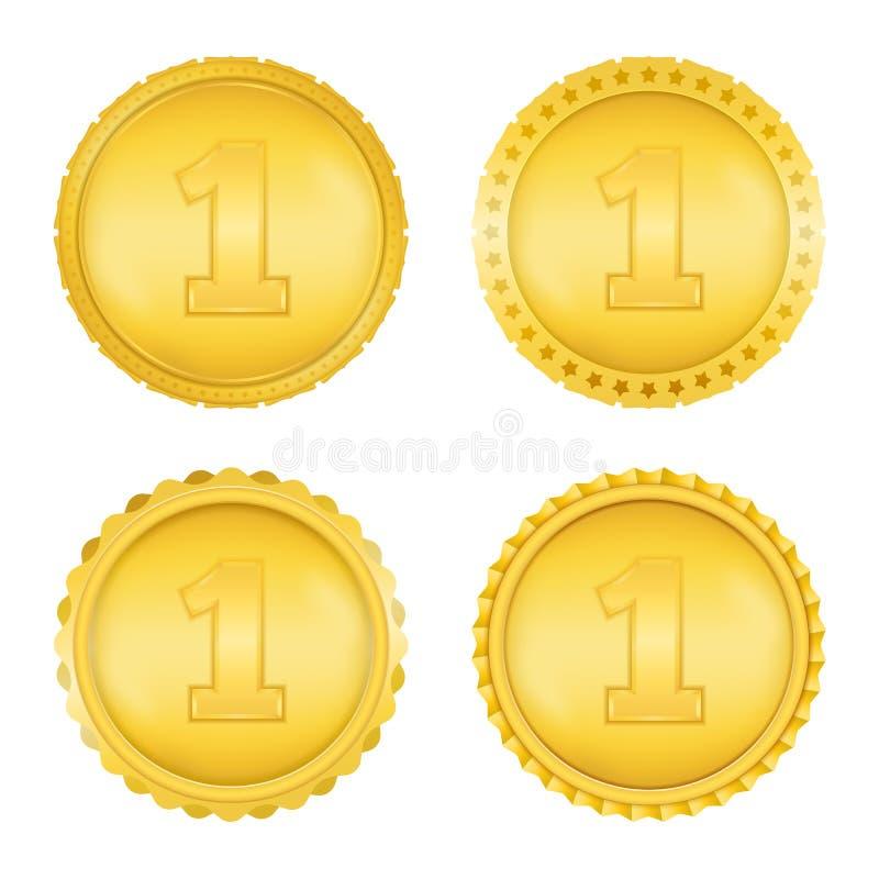 Gouden Medailles royalty-vrije illustratie