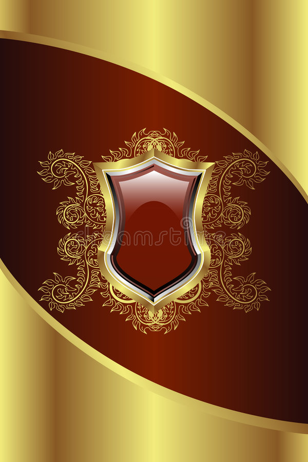Gouden Medaillon royalty-vrije illustratie