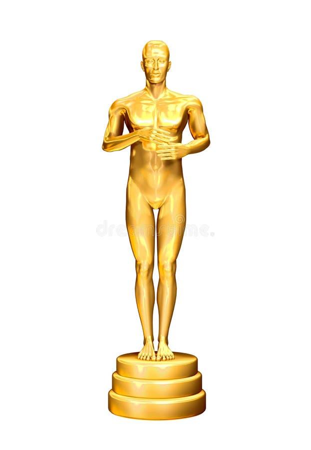 Gouden mens vector illustratie