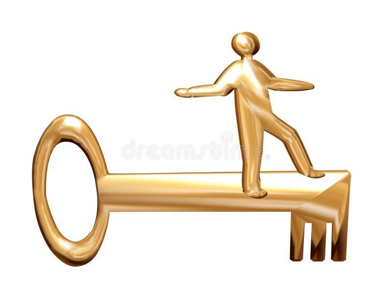 Gouden mens royalty-vrije illustratie