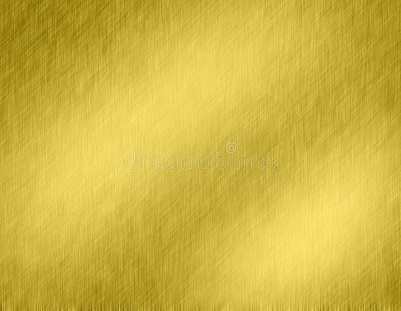 Gouden metaal geborstelde achtergrond royalty-vrije illustratie