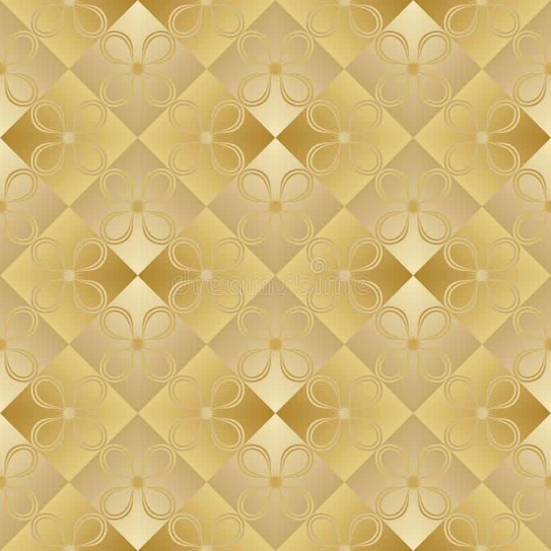 Gouden metaal regelmatig naadloos patroon vector illustratie