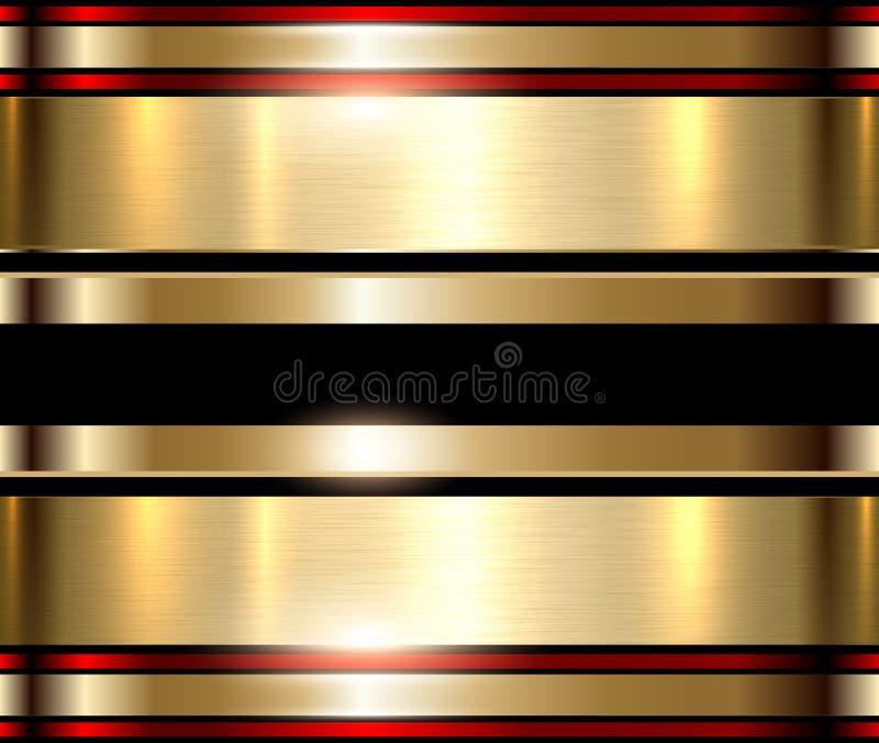 Gouden metaalachtergrond royalty-vrije illustratie