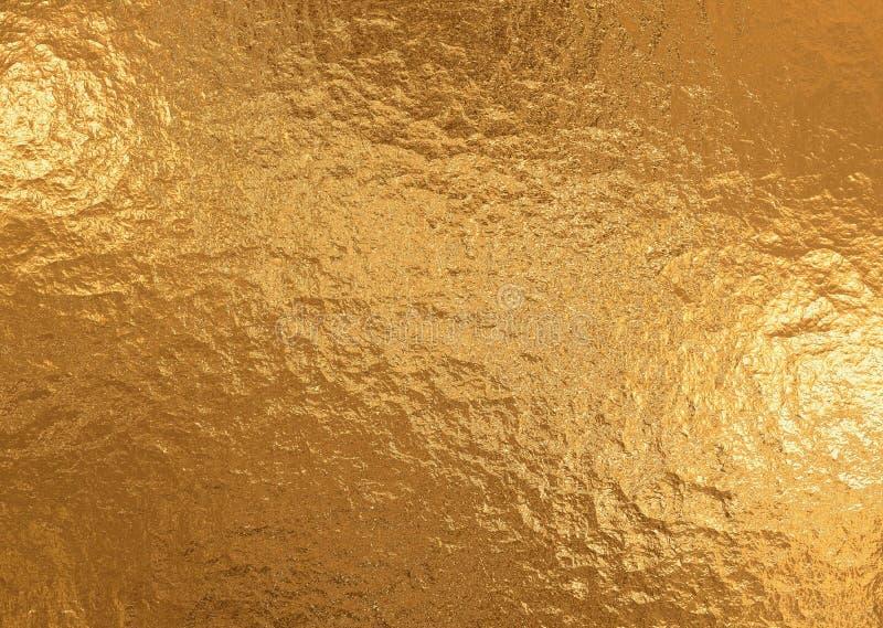 Gouden metaalachtergrond, linnentextuur, heldere feestelijke achtergrond stock afbeeldingen