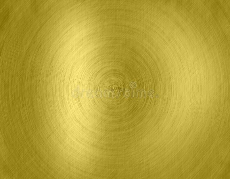 Gouden metaalachtergronden stock illustratie