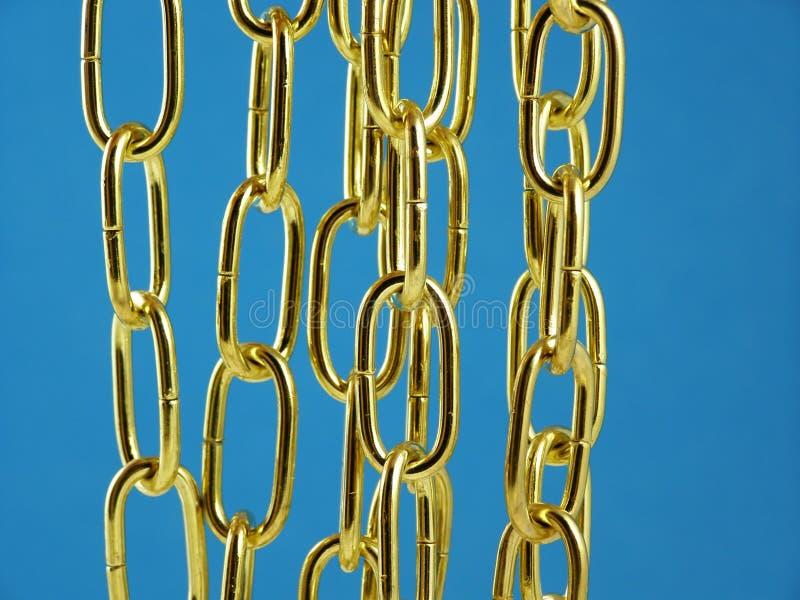 Gouden metaalketting stock afbeeldingen