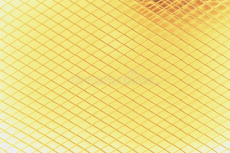 Gouden metaalnetwerk royalty-vrije stock afbeeldingen