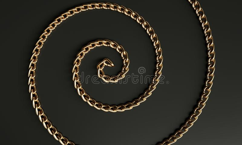 Gouden metaalspiraal vector illustratie