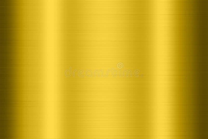 Gouden metaaltextuur vector illustratie