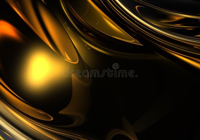 Gouden metall in de duisternis vector illustratie