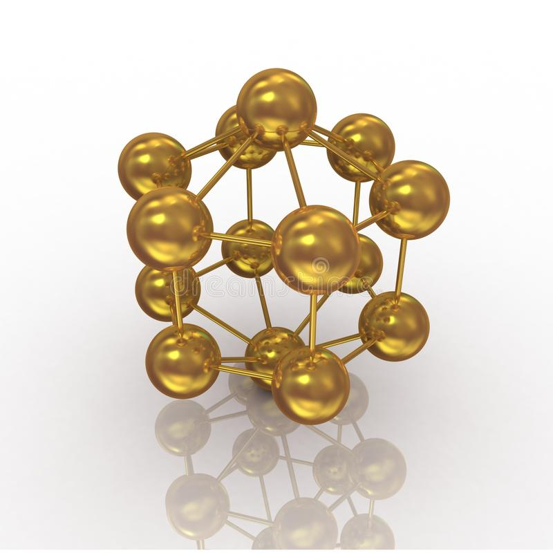 Gouden molecule royalty-vrije stock foto's