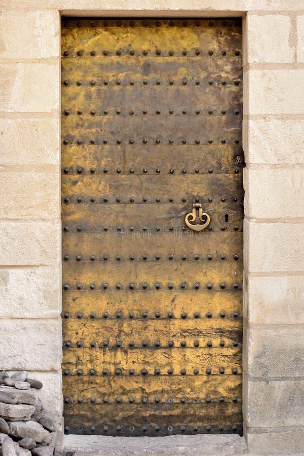 Gouden moorish deur. stock afbeelding