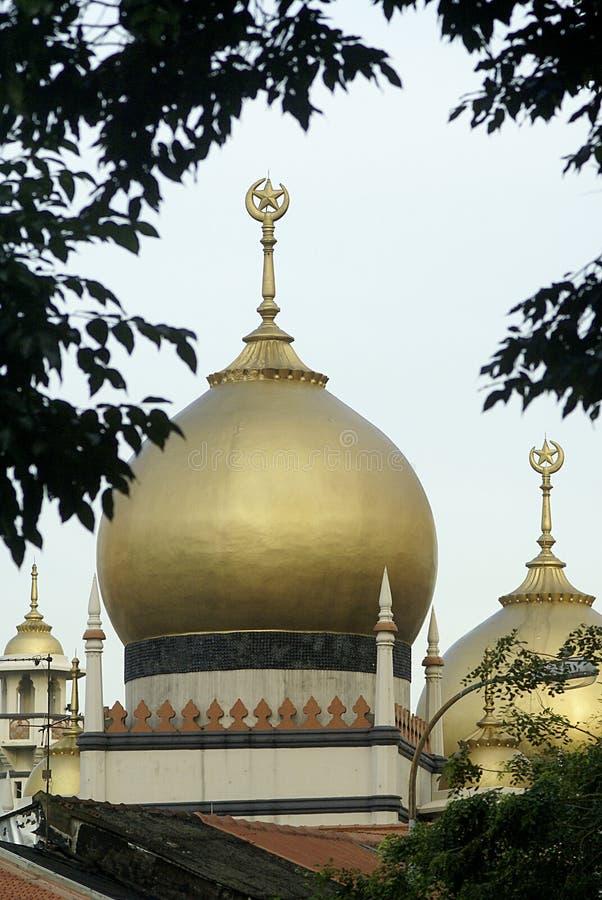 Gouden moskee stock afbeelding