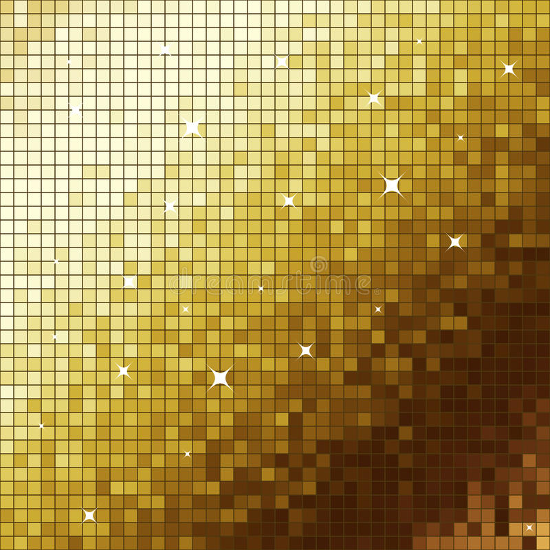 Gouden mozaïek royalty-vrije illustratie
