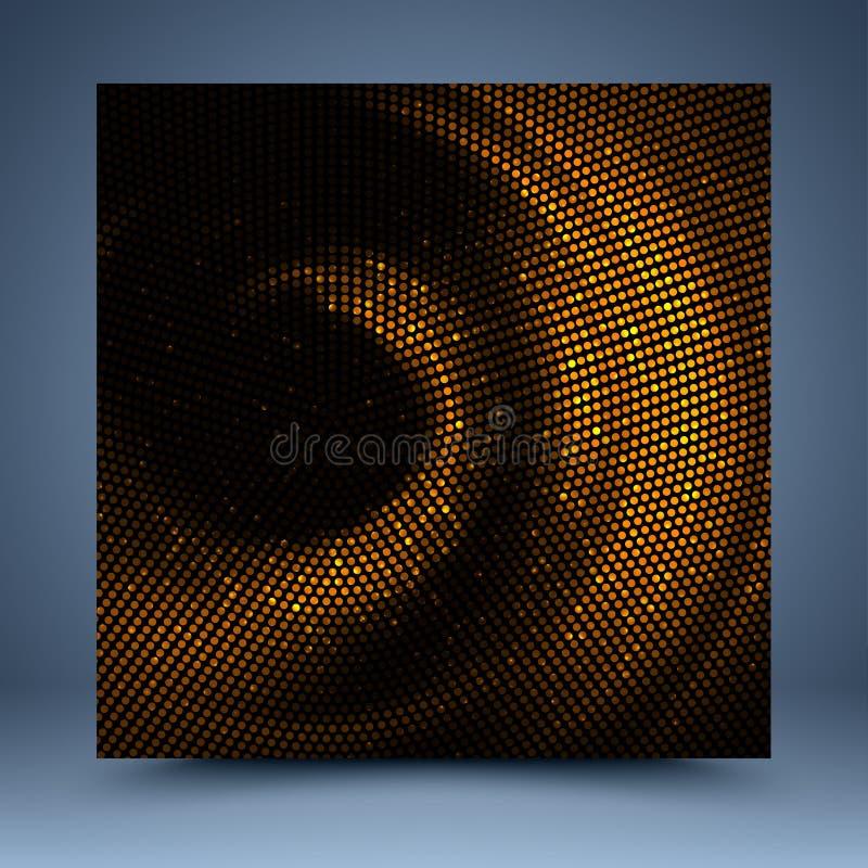 Gouden mozaïekmalplaatje vector illustratie