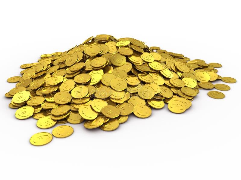 Gouden muntstukken vector illustratie