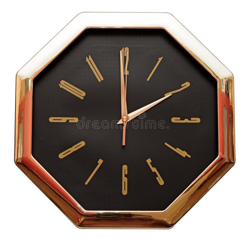 Gouden muurklok royalty-vrije stock fotografie
