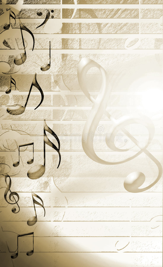Gouden Muzikale Achtergrond royalty-vrije illustratie