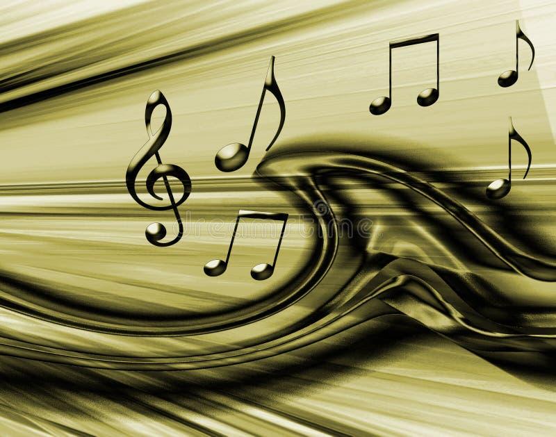 Gouden Muzikale Achtergrond vector illustratie