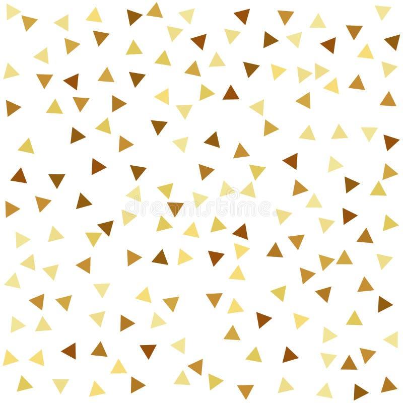 Gouden naadloos patroon met driehoeken stock illustratie