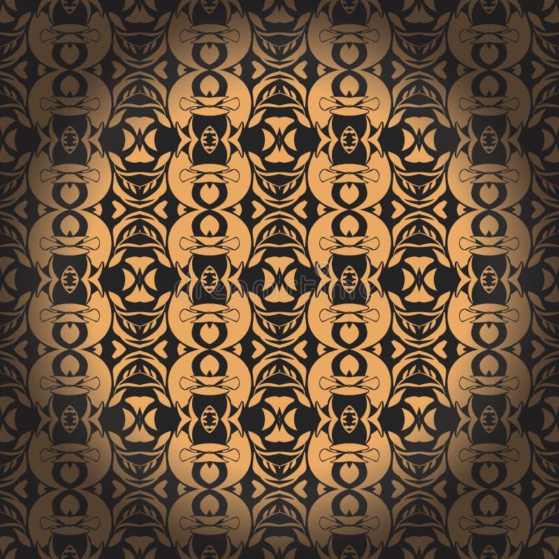 Gouden naadloos patroon Vector illustratie Editable vectordossier royalty-vrije illustratie