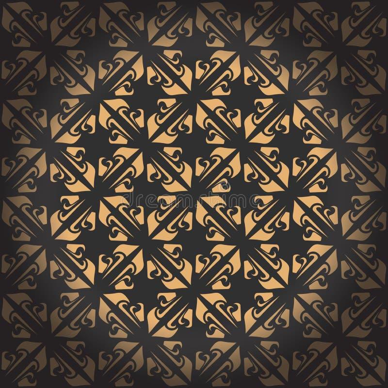 Gouden naadloos patroon Vector illustratie Editable vectordossier stock illustratie