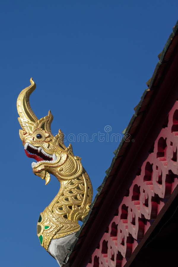 Gouden naga royalty-vrije stock foto