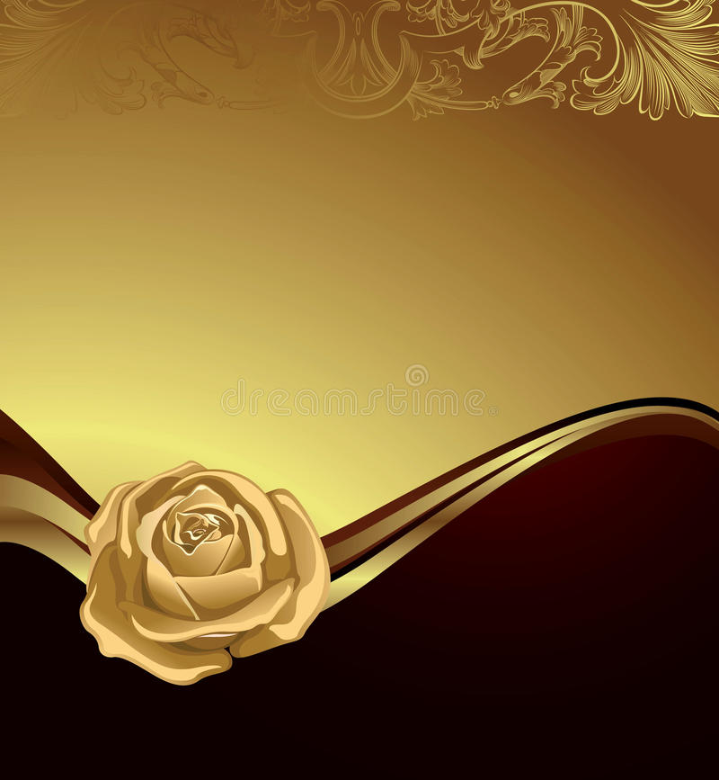 Gouden nam toe vector illustratie