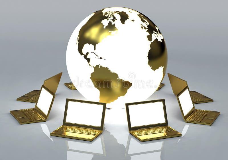 Gouden Netwerk stock illustratie
