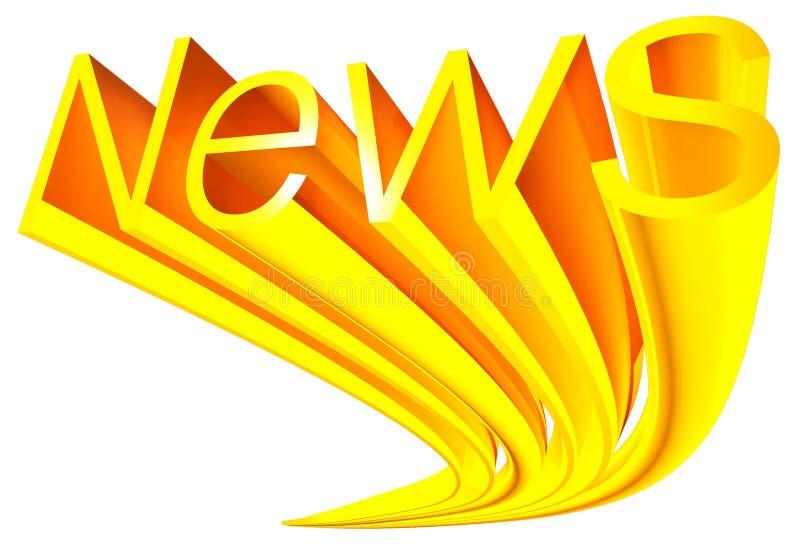 Gouden nieuws royalty-vrije illustratie